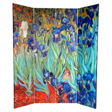 6 Feet Tall Double Sided Works of Van Gogh Canvas Room Divider