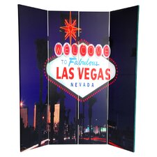 6 Feet Tall Double Sided Las Vegas Poker Canvas Room Divider