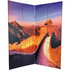 "70.88"" x 63"" Great Wall of China 4 Panel Room Divider"