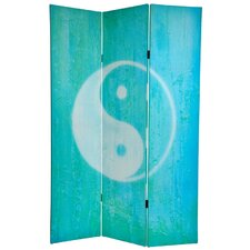 "70.88"" x 47.25"" Yin Yang / Om 3 Panel Room Divider"