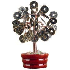 <strong>Oriental Furniture</strong> Chinese Coin Tree Mini Sculpture