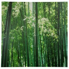 "<strong>Oriental Furniture</strong> Bamboo Canvas Wall Art - 31.5"" x 31.5"""
