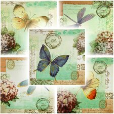 Dragonfly and Butterfly 5 Piece Graphic Art on Canvas Set