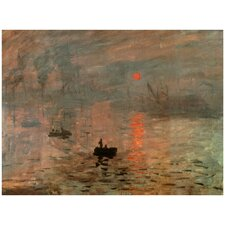 'Impression Sunrise' by Monet Painting Print on Canvas