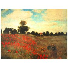 "<strong>Oriental Furniture</strong> Poppies Canvas Wall Art - 31.5"" x 23.5"""