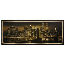 "New York Skyline Canvas Wall Art - 39.5"" x 15.75"""