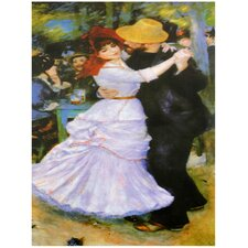 'Dance at Bougival' by Renoir Painting Print on Canvas