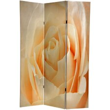"<strong>Oriental Furniture</strong> 71"" x 47.63"" Birds and Flowers 3 Panel Room Divider"