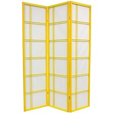 "<strong>Oriental Furniture</strong> 70"" x 42"" Double Cross Shoji 3 Panel Room Divider"