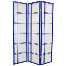 "70"" x 42"" Double Cross Shoji Room Divider"