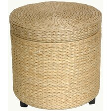 Rush Grass Storage Footstool