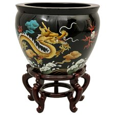 Lacquer Dragons Vase