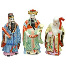3 Piece Tao Lucky Gods Figurine Set