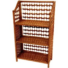 "<strong>Oriental Furniture</strong> 33"" Natural Fiber Shelving Unit in Honey"