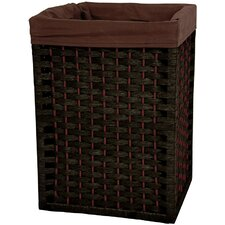 "<strong>Oriental Furniture</strong> 17"" Natural Fiber Basket in Black"