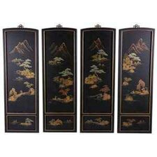 <strong>Oriental Furniture</strong> Japanese 4 Piece Landscape Wall Décor Set