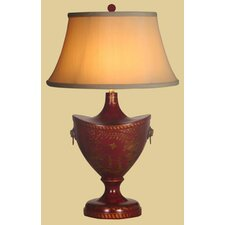 <strong>Oriental Furniture</strong> Lacquer Oval Table Lamp
