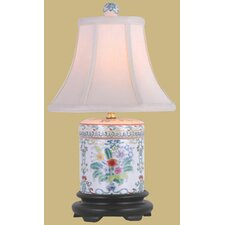 """Porcelain Cover Jar 18"""" H Table Lamp with Bell Shade"""