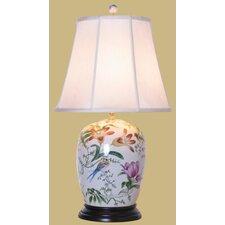 """Porcelain Lily 28"""" H Ginger Jar Table Lamp"""