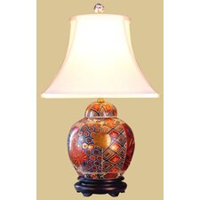 <strong>Oriental Furniture</strong> Imari Jar Table Lamp