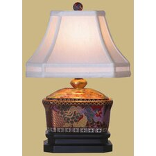 """Satsuma Box 20"""" H Table Lamp with Bell Shade"""