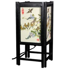 <strong>Oriental Furniture</strong> Art Shoji Table Lamp with Birds