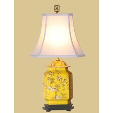 <strong>Oriental Furniture</strong> Birds and Flowers Jar Table Lamp