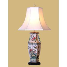 """Birds and Flowers 32"""" H Vase Table Lamp"""