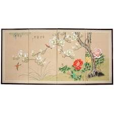<strong>Oriental Furniture</strong> Fly Away Little Bird 4 Panel Room Divider