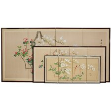 Love Birds 4 Panel Room Divider