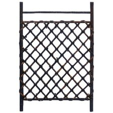 Dark Stained Japanese Style Garden Trellis