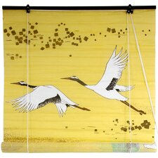 <strong>Oriental Furniture</strong> Cranes Shoji Rice Paper Roller Blind