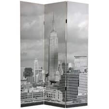 "70.88"" x 47.25"" New York Scenes 3 Panel Room Divider"