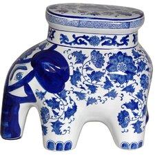 Floral Elephant Stool