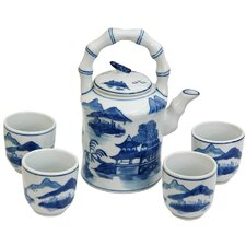 Landscape 5 Piece Porcelain Tea Set