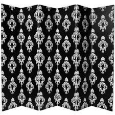 "70.88"" x 94"" Double Sided Damask 6 Panel Room Divider"