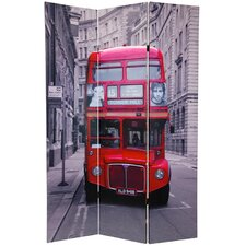 "70.88"" x 47"" Double Decker Bus 3 Panel Room Divider"