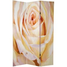 Double Sided Roses Room Divider in White and Violet