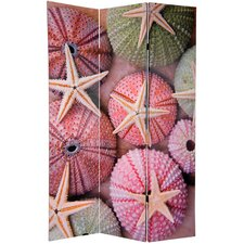"70.88"" x 47.25"" Double Sided Starfish 3 Panel Room Divider"