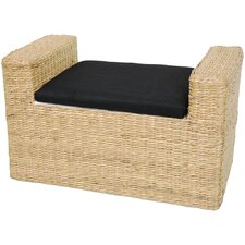 Rush Grass Storage Bench