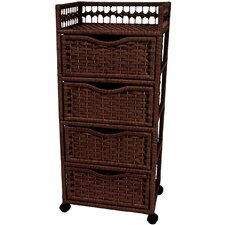 <strong>Oriental Furniture</strong> Natural Fiber 4 Drawer Chest