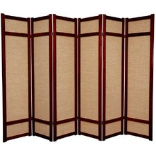 "<strong>Oriental Furniture</strong> 71"" x 84"" Jute Shoji 6 Panel Room Divider"