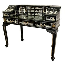 <strong>Oriental Furniture</strong> Lady's Writing Desk with Mother of Pearl Design