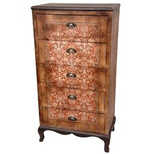 <strong>Oriental Furniture</strong> Olde Worlde Vintage 5 Drawer Chest