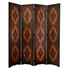 "72"" x 63"" Olde-Worlde Classical 4 Panel Room Divider"