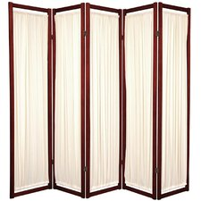 "<strong>Oriental Furniture</strong> 72"" x 70"" Helsinki Shoji 5 Panel Room Divider"