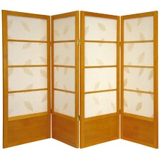 "<strong>Oriental Furniture</strong> 48"" x 57"" Botanic Shoji 4 Panel Room Divider"