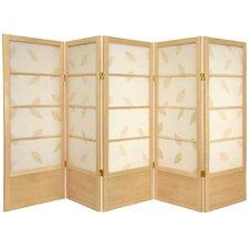 """48"""" x 72"""" Botanic Shoji 5 Panel Room Divider"""