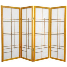 "<strong>Oriental Furniture</strong> 48"" x 57"" Eudes Shoji 4 Panel Room Divider"