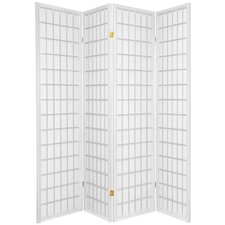 "70"" x 56"" Window Pane Shoji 4 Panel Room Divider"